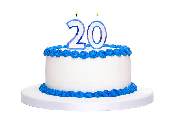 birthday cake - number 20 stock photos and pictures