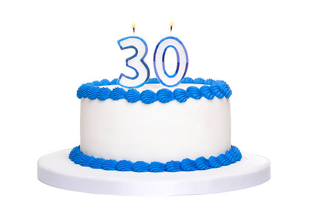 birthday cake - number 30 stock photos and pictures