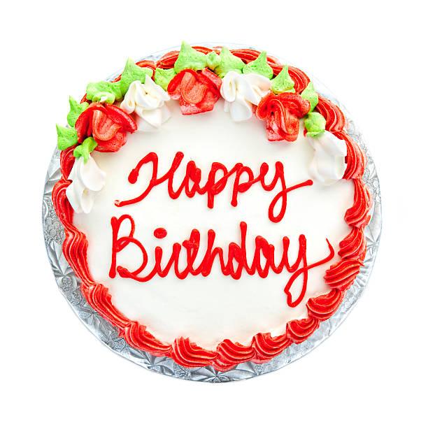 gâteau d'anniversaire - partie supérieure photos et images de collection