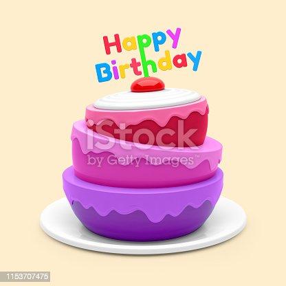 istock Birthday cake 1153707475