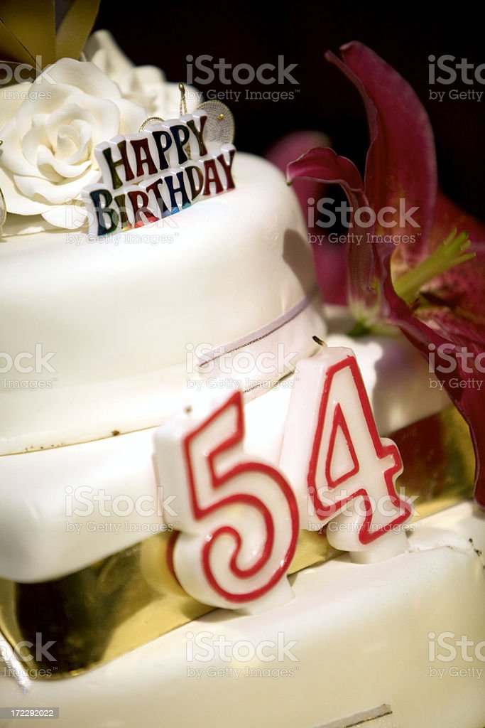 Birthday Cake Stock Photo More Pictures Of 50 54 Years Istock