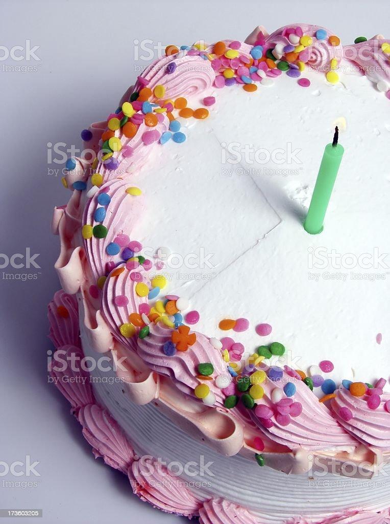 birthday cake(vertical) stock photo