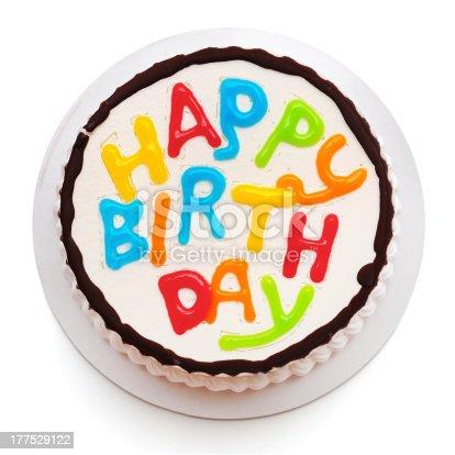 Birthday cake isolated on white