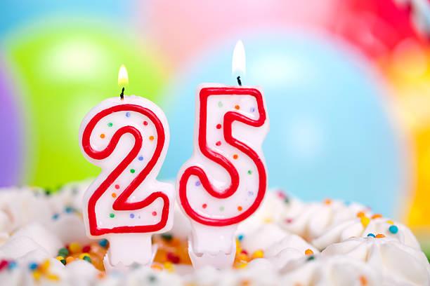bolo de aniversário - 25 30 anos - fotografias e filmes do acervo