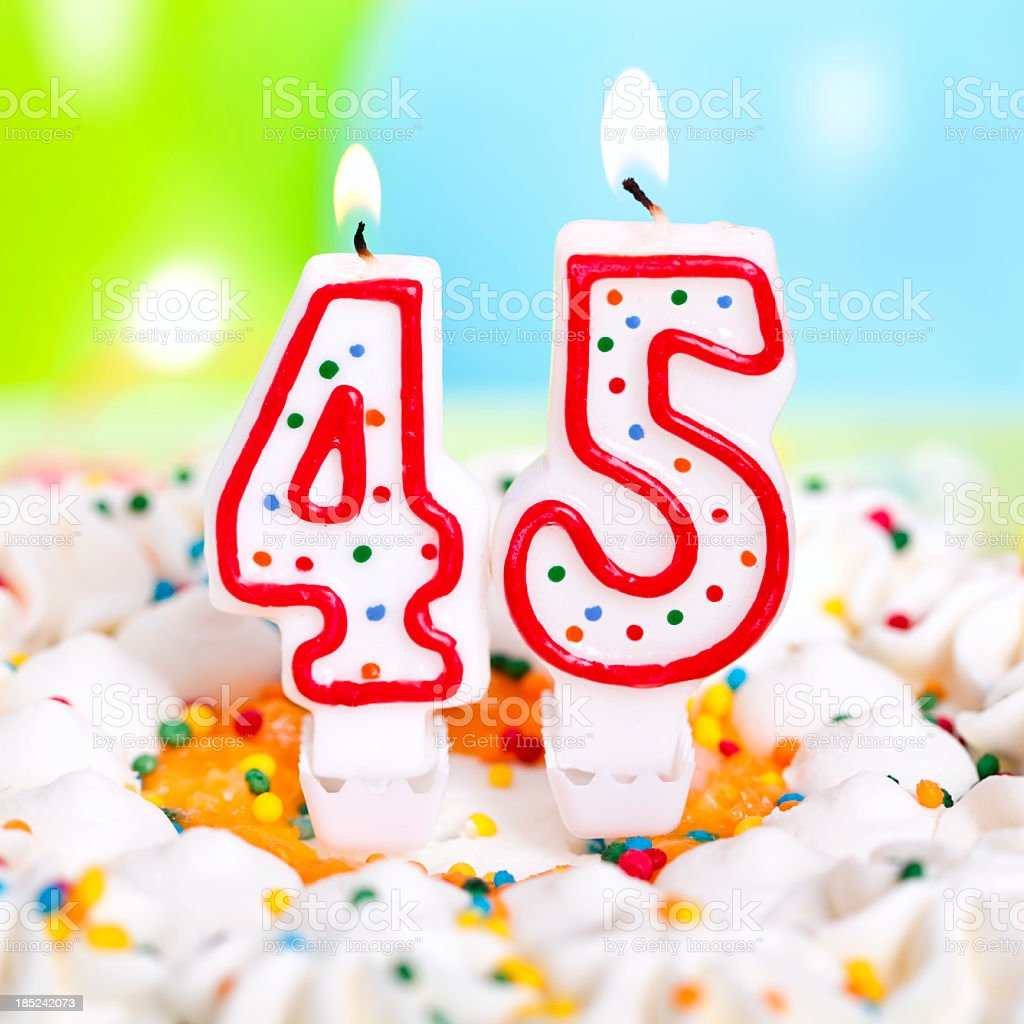 Birthday Cake Stock Photo More Pictures Of 40 44 Years Istock