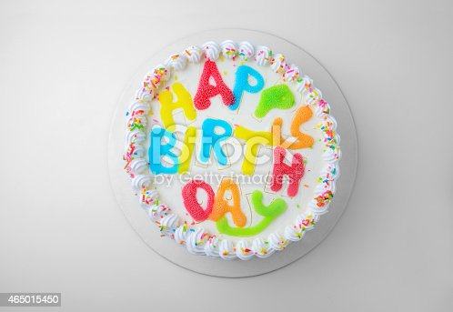 birthday cake isolated on white with clipping path