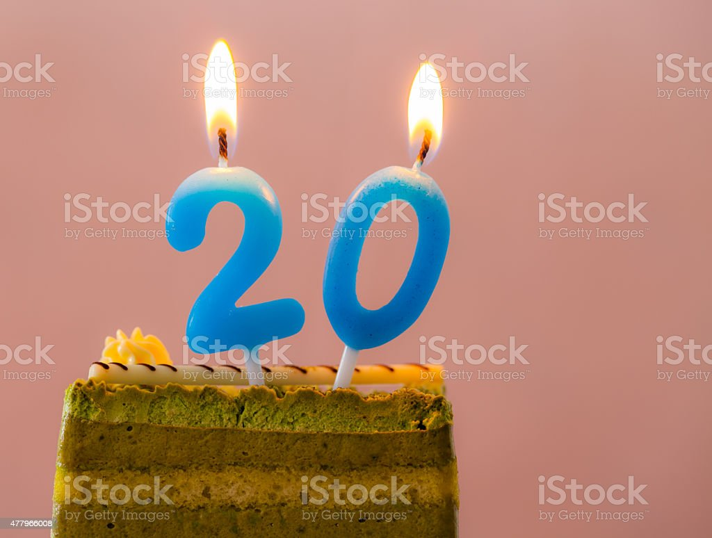 Birthday Cake. stock photo