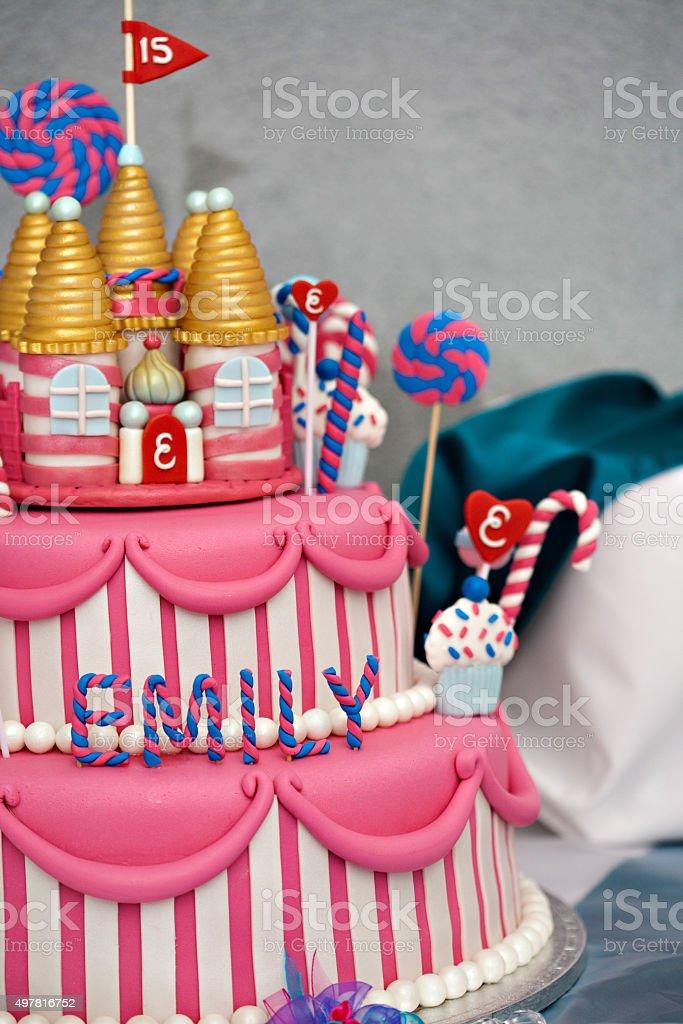 Torta di compleanno - foto stock