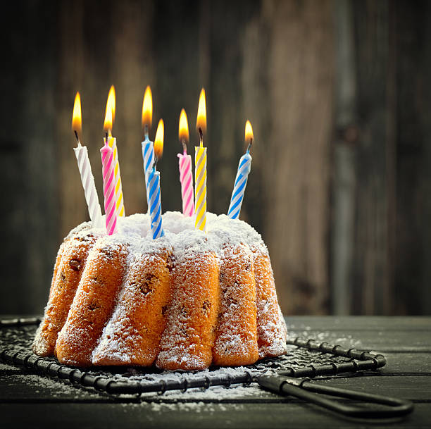 Royalty Free Birthday Cake With Lots Of Candles Pictures