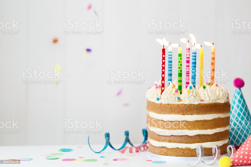 Birthday cake stock photo