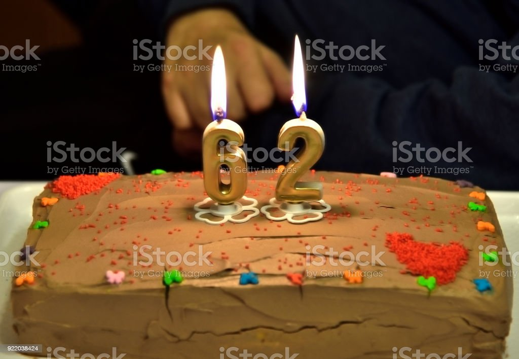 62 Birthday Cake Stock Photo More Pictures Of Active Seniors