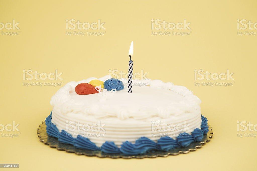 Birthday Cake - Single Candle royalty-free stock photo