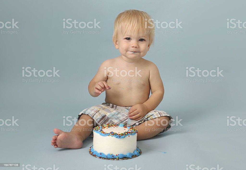 Birthday Cake Smash royalty-free stock photo