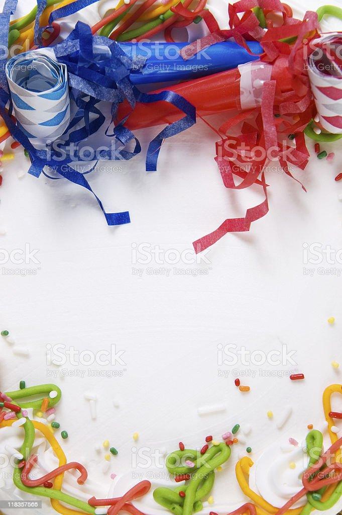 Birthday Cake Top stock photo
