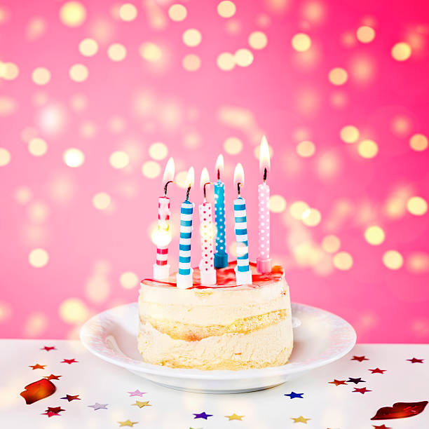 Birthday Cake With Lots Of Candles Pictures, Images And