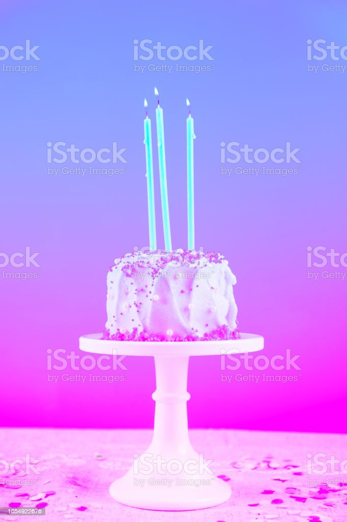 Swell Birthday Cake With Candles Birthday Party Celebration Concept Funny Birthday Cards Online Alyptdamsfinfo
