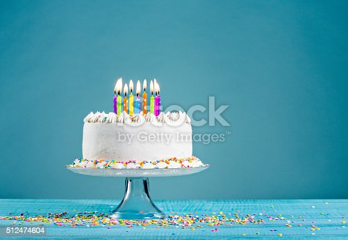 istock Birthday Cake with Candles 512474604