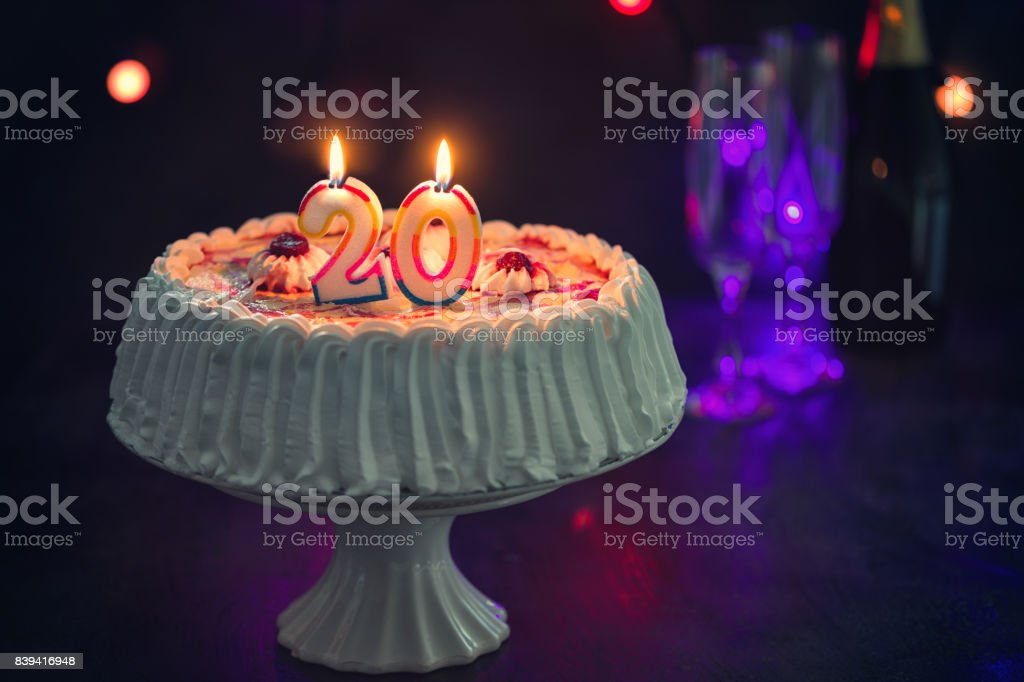 Birthday Cake With Candles Stock Photo More Pictures Of