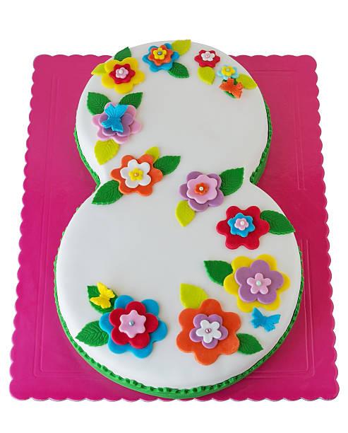 Astonishing 8Th Birthday Cake Stock Photos Pictures Royalty Free Images Personalised Birthday Cards Veneteletsinfo