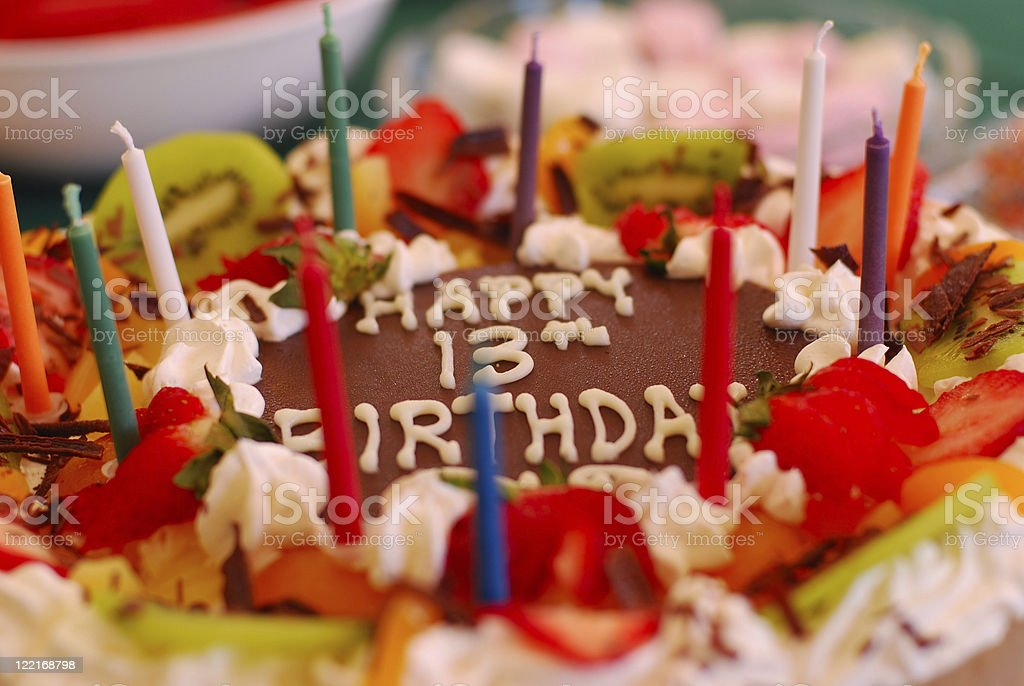 Birthday Cake:pavlova dessert vibrant color royalty-free stock photo