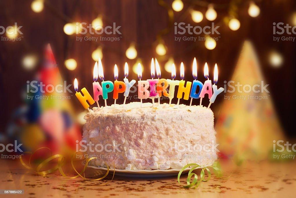Birthday Candles Close Up Bokeh Background Lizenzfreies Stock Foto
