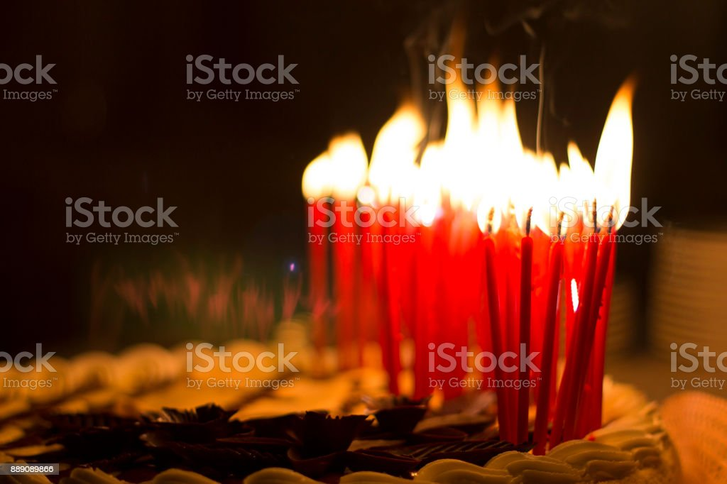 Birthday Cake Candles Candle Fire