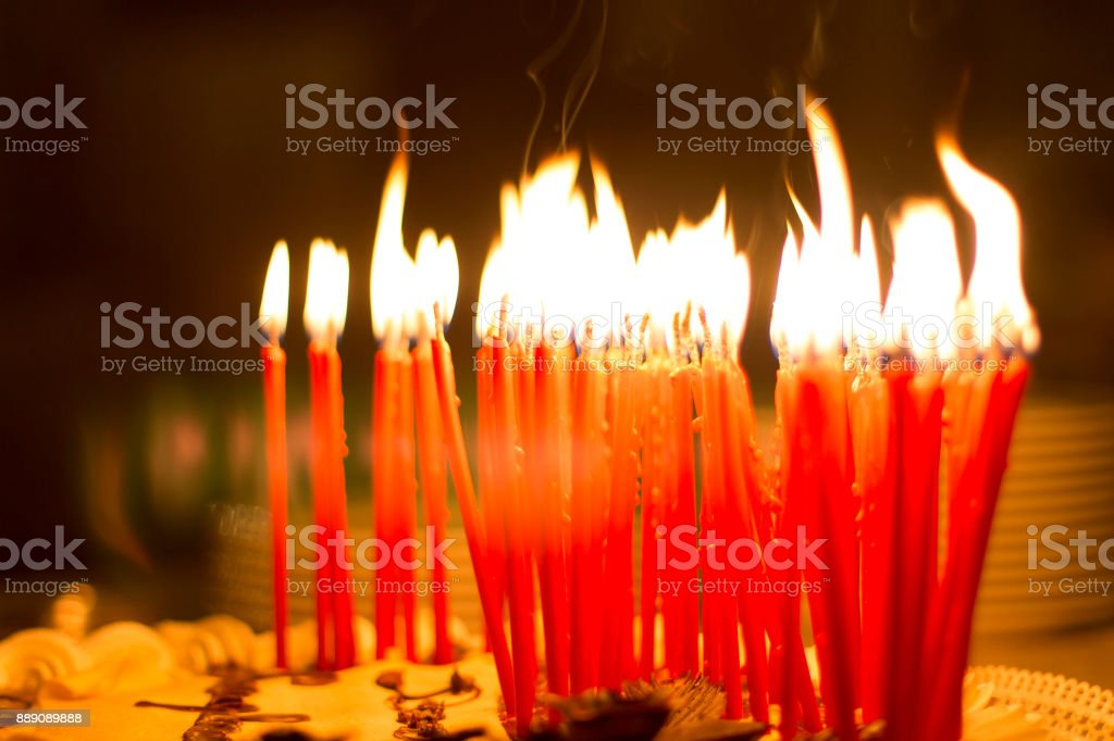 Birthday Cake Candle Fire