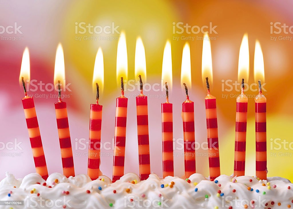 Birthday candles - Royalty-free 10-11 Years Stock Photo