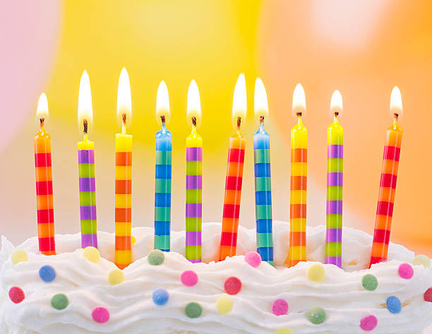 Birthday candles Birthday candles on colorful background birthday candle stock pictures, royalty-free photos & images