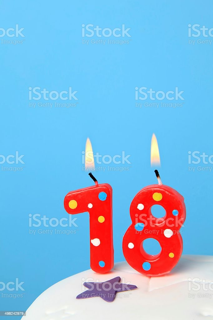 18 Birthday Candles Royalty Free Stock Photo