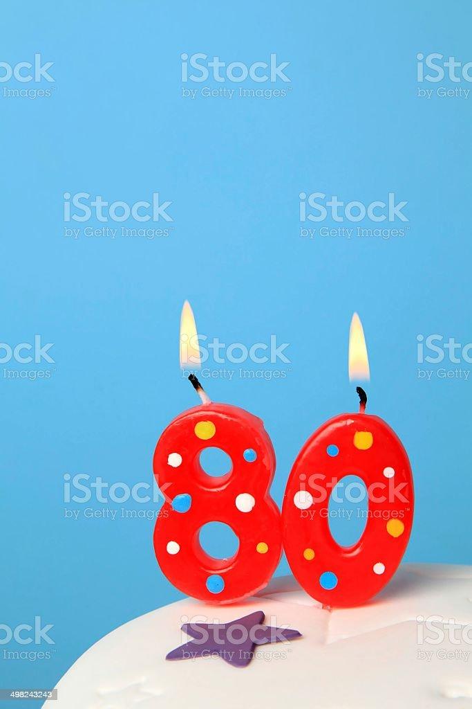80 Birthday Candles Royalty Free Stock Photo