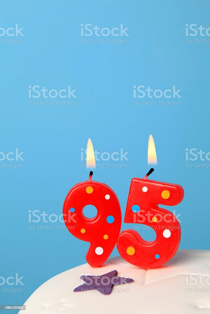 95 Birthday Candles Stock Photo More Pictures Of 80 89 Years