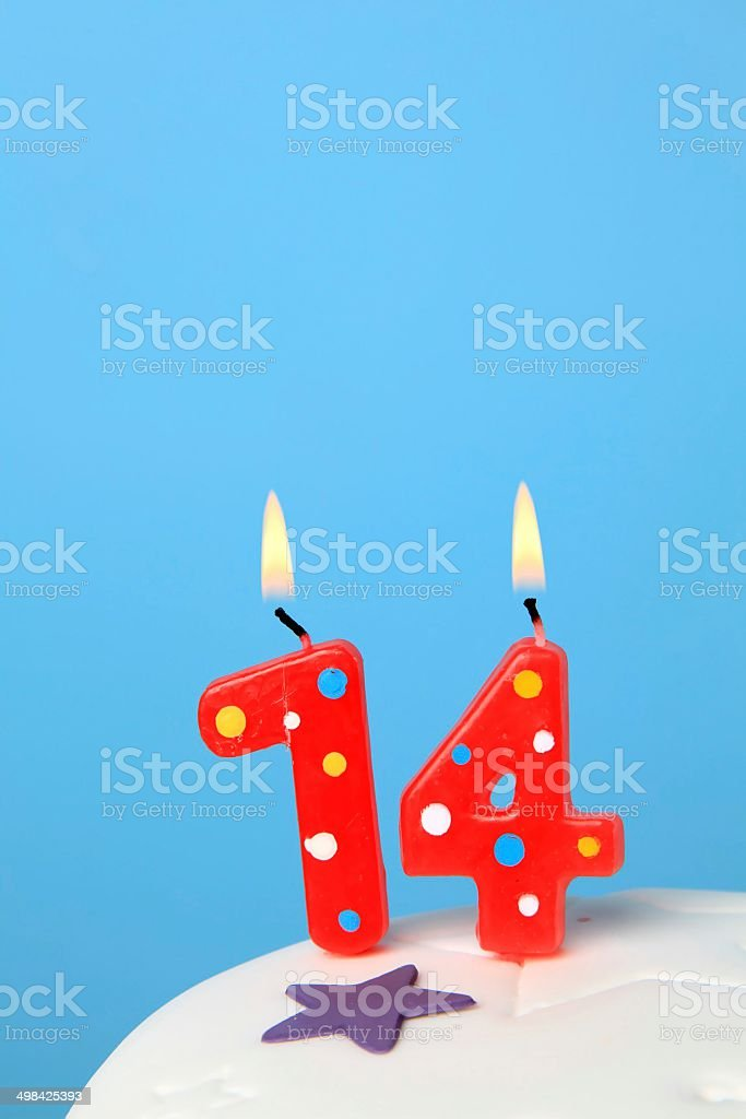 14 Birthday Candles Stock Photo More Pictures Of 15 Years