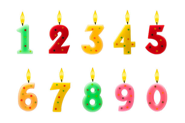 Birthday candles Birthday candles isolated on white birthday candle stock pictures, royalty-free photos & images