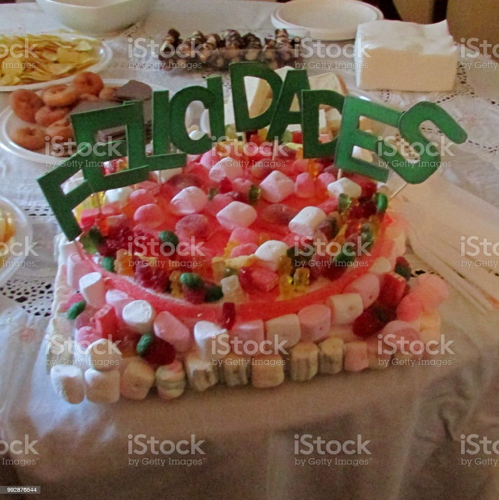 Incredible Birthday Candy Cake Stock Photo Download Image Now Istock Funny Birthday Cards Online Bapapcheapnameinfo