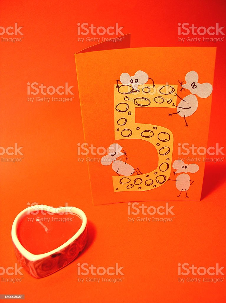 Birthday card royalty-free stock photo