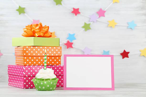 Cartolina di buon compleanno - foto stock
