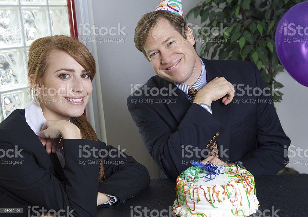Birthday Celebration at Work royalty-free stock photo
