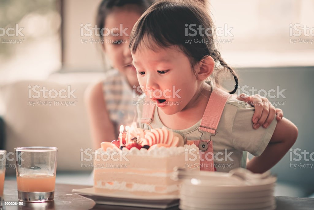 birthday celebration for asian chinese family in malaysia stock photo