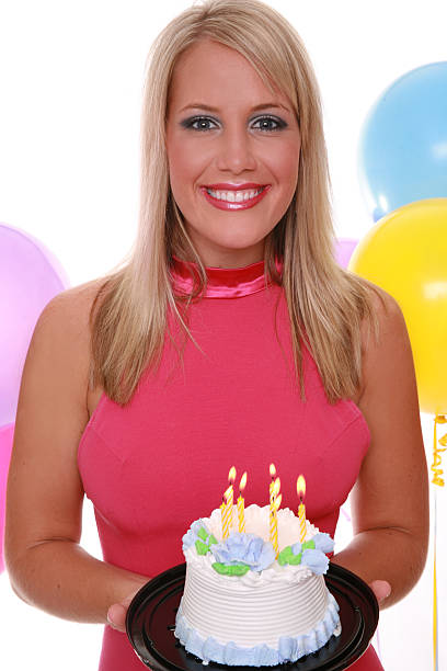 Best Sexy Woman Holding Birthday Cake Stock Photos