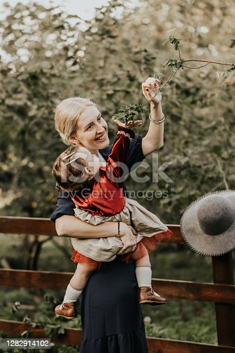 istock Birthday Celebration With Mother Loving Her Child And Halloween Concept 1282914102