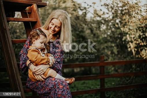 istock Birthday Celebration With Mother Loving Her Child And Halloween Concept 1282914121