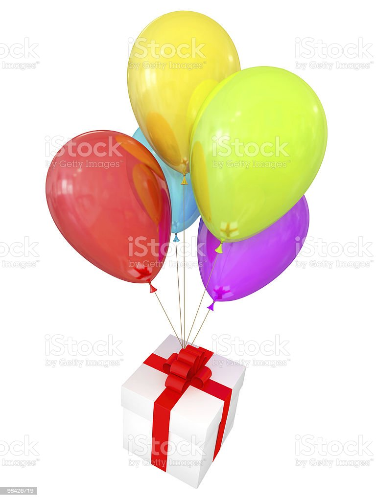 Birthday clipart royalty-free stock photo