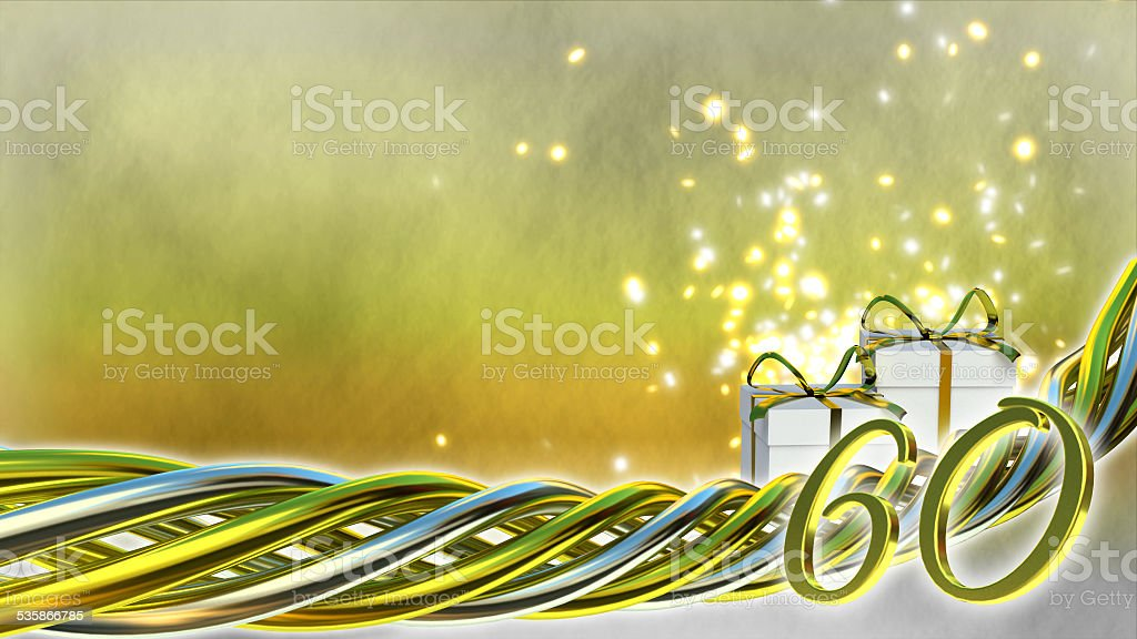 birthday concept with gifts and sparks stock photo