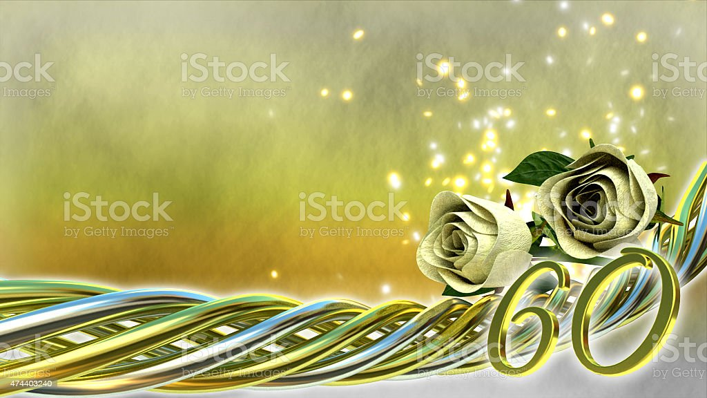 birthday concept with roses and sparks stock photo