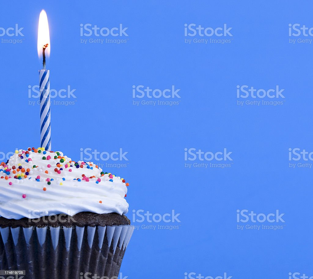 Birthday cupcake royalty-free stock photo