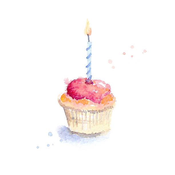 geburtstag cupcake - geburtstagswünsche mit bild stock-fotos und bilder