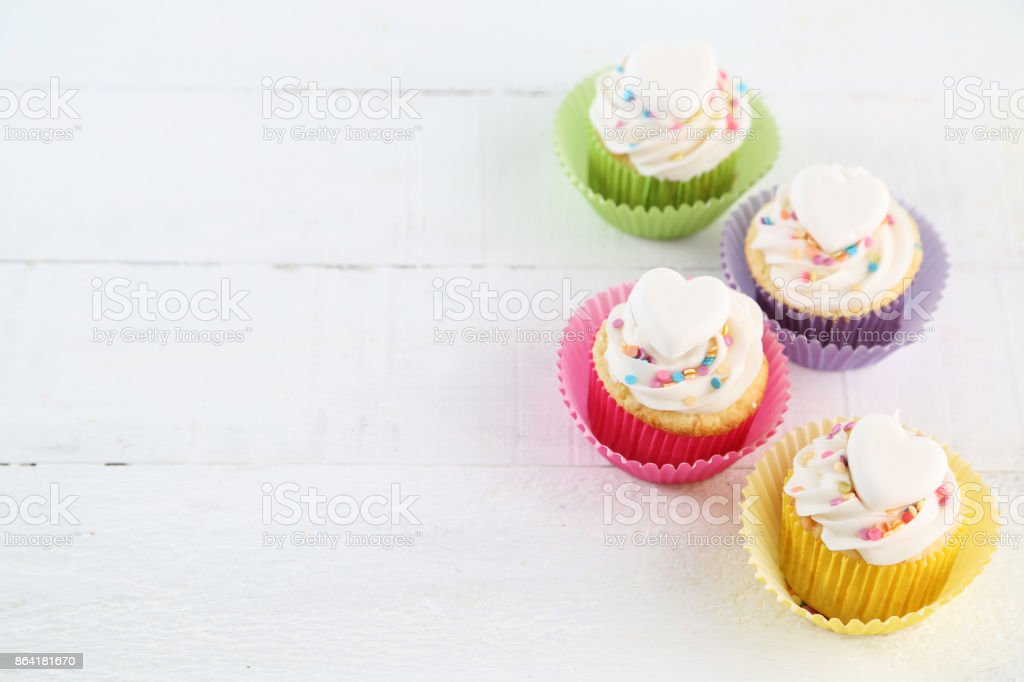 birthday cupcakes royalty-free stock photo