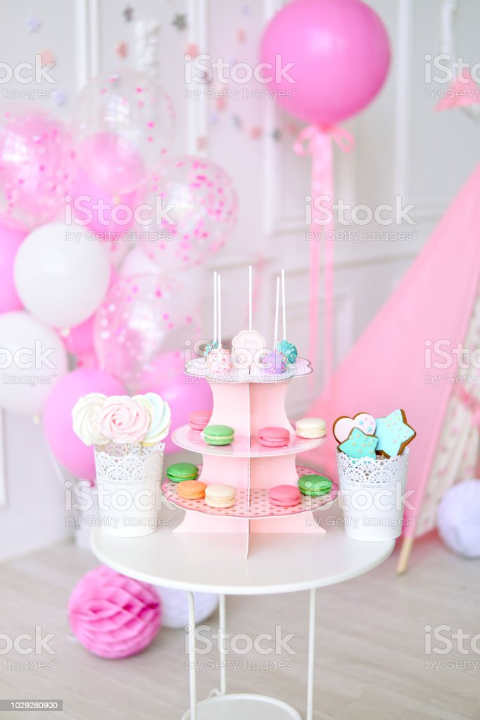 Amazing Birthday Decorations First Birthday Stock Photo Download Image Funny Birthday Cards Online Fluifree Goldxyz