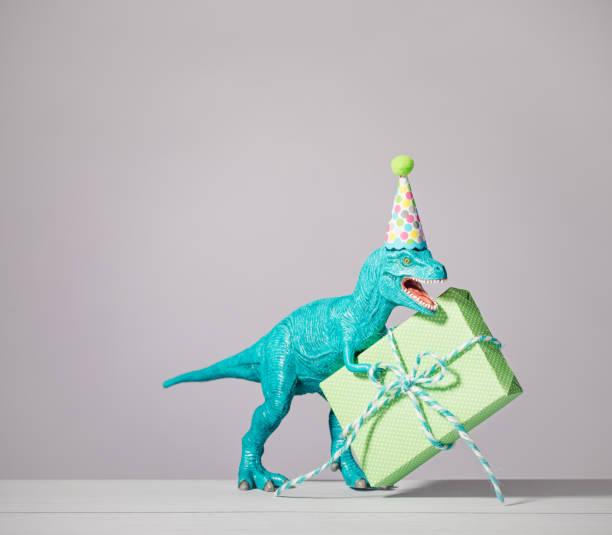 Birthday Dinosaur stock photo